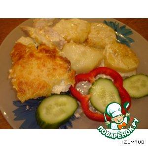 Рецепт: Куриная грудка в сметанно-чесночном соусе