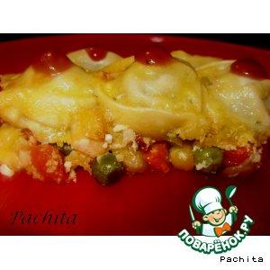 Рецепт: Запеканка пельменно-овощная -2