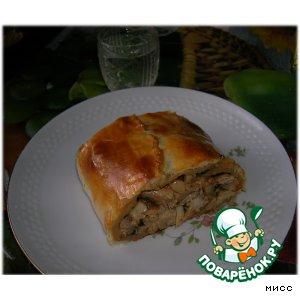Рецепт: Слоeный пирог из фазана