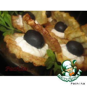 """Рецепт: Закуска из картофеля """"Морская раковина"""""""