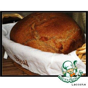 Рецепт: Ржаной домашний хлеб на закваске