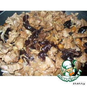 Рецепт Баранина, тушенная с черносливом
