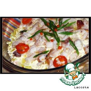 Рецепт: Салат с тунцом горячего копчения