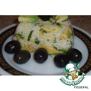Рецепт: Японская закуска с рисом, авокадо и цуккини