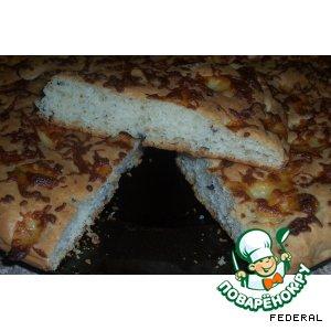 Рецепт: Фокачча с сыром и оливками