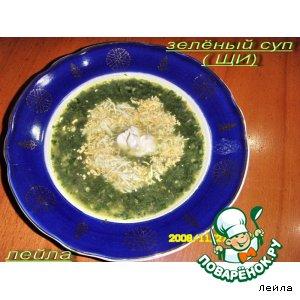 Рецепт: Зеленый суп или щи