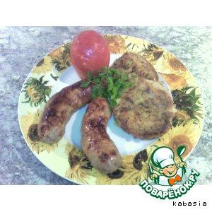 Рецепт: Мясные колбаски Карнацей с картофляниками