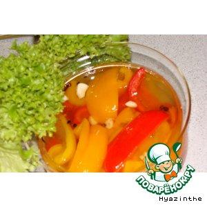 Рецепт: Разноцветный маринованный перец Веселый перчик