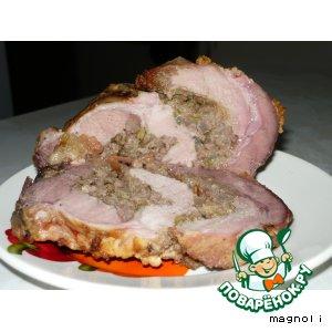 Рецепт: Свиной рулет под сладким соусом