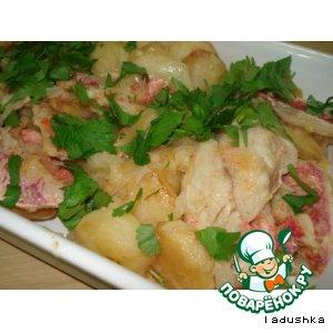 Рецепт Бычки морские жареные с картошкой