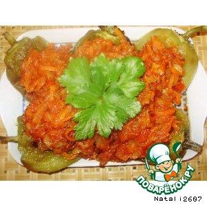 Рецепт: Салат с печеным перцем