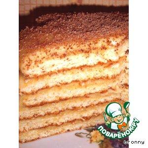 Рецепт: Торт творожный Бонапарт