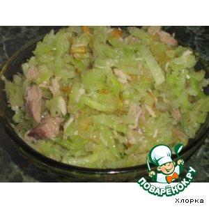 Рецепт: Зеленый салат с редькой