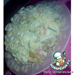 Рецепт: Салат Снежный лосось