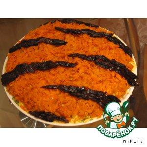 Рецепт: Салат Тигрица