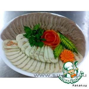 Decoration of carrots and cucumber