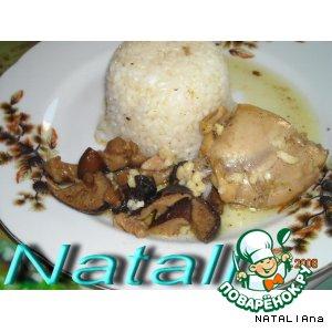 Рецепт: Фрикассе из курицы с грибами