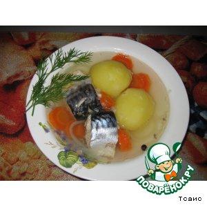 Рецепт: Бульон из скумбрии с картошкой