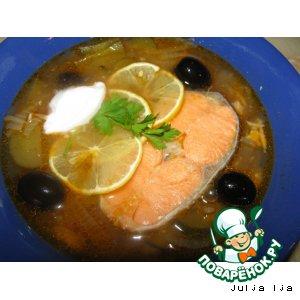 Рецепт: Солянка Моя рыбонька