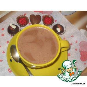 Рецепт: Горячий шоколад «Орехово-имбирный»