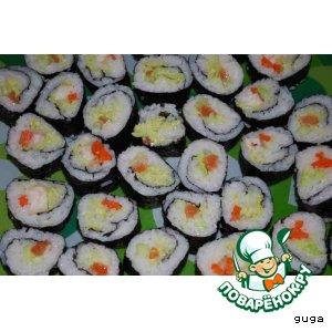 Рецепт: Японские роллы и рис для них