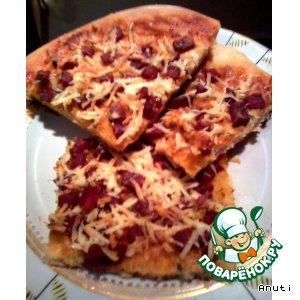Рецепт: Пицца по-быстрому
