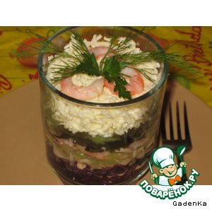 Рецепт: Салат  «Русалка»