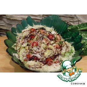 """Рецепт: Салат из семги с пармезаном """"Гурман"""""""