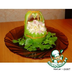 Рецепт: Корзиночки с салатиком