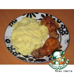 Рецепт: Фаршированные куриные бедрышки