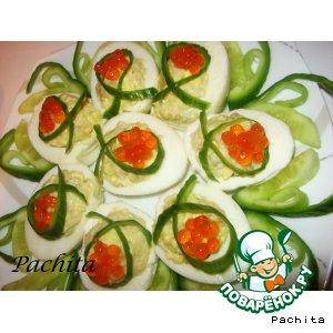 Рецепт: Яйца фаршированные Карамболь