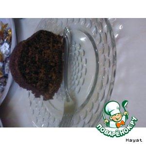 Рецепт: Шоколадный кекс на йогурте