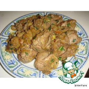 Рецепт: Куриная печень по-индийски