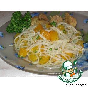 Спагетти с тыквой – кулинарный рецепт