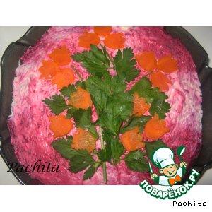 Рецепт: Салат Сливочная сельдь под шубой