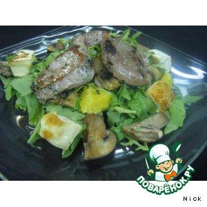 Рецепт: Салат с жареным сыром