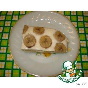 Рецепт: Творожная запеканка с бананами