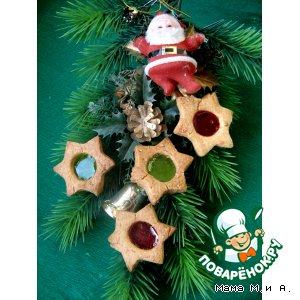 Рецепт: Печенье с карамельными окошками