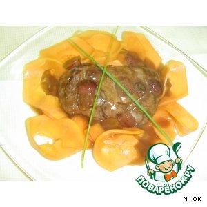 Рецепт: Бифштекс из говядины с папайей