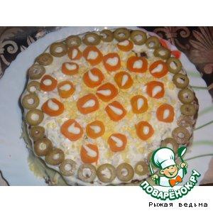 Рецепт: Торт печеночный Для любимого