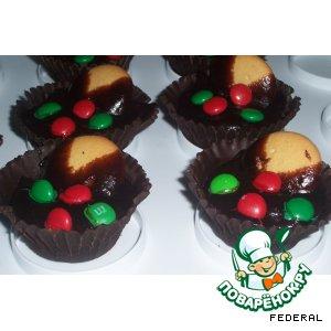 Рецепт: Шоколадные корзинки