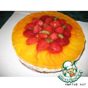 Рецепт: Творожный десерт Цвета радуги