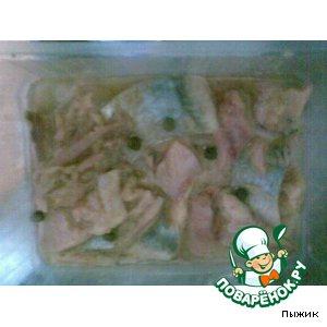 Рецепт: Пресервы с сельдью в горчичном соусе