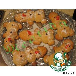 """Рецепт: Печенье """"Гнездо снеговика"""""""