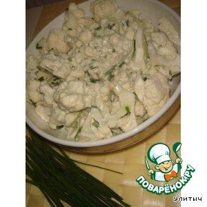 Рецепт: Салат из сырой цветной капусты