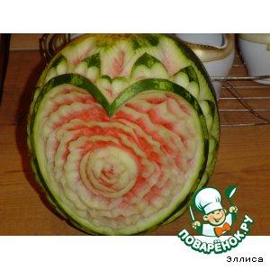 Рецепт: Арбузное сердце