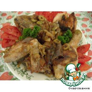 Рецепт: Цыпленок с оливками