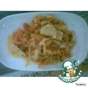 Рецепт: Спаржа с овощами