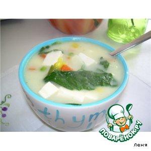 Рецепт: Японский суп с Тофу