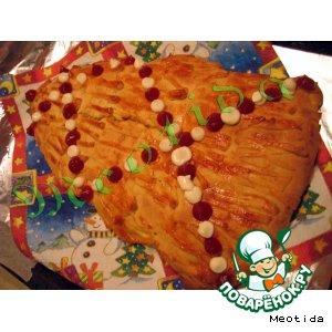 """Рецепт: Пирог """"Новогоднее настроение"""""""